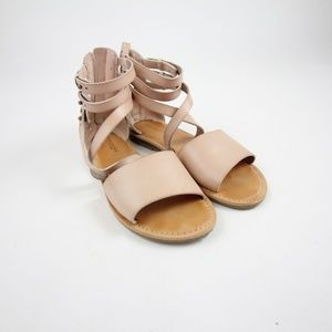 American Eagle Womens AEO Wide Band Gladiator Sand